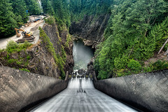 Capitano Lake Dam (todd landry photography) Tags: lake green vancouver landscape photography nikon dam engineering columbia british todd hdr landry capitano d700