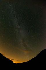 The Warm Up Act (Fire Service No More) Tags: night way stars scotland milky killin