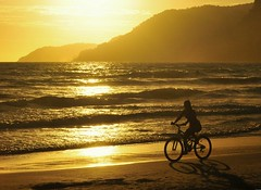 Golden Afternoon (Serlunar) Tags: praia beach bike bicycle golden flickr afternoon bicicleta playa midi plage sombras tarde apres doree dorada dourada prail serlunar peopleenjoyingnature