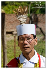 Miji man and his traditional Head gear (Arif Siddiqui) Tags: people india asia culture places tribal tribes tradition ethnic northeast arif arunachal miji siddiqui bhalukpong kameng chindang