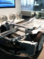 Tesla Motors Electric Car Chassis (Greenlivingguy) Tags: electriccars greenliving greenbusiness greenlivingnews