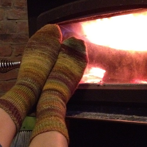 Travel socks are finished! 2 years in the making ;) #knitting #SITTM