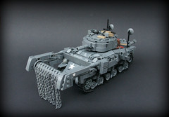 Sherman M4-A4 'Crab' ([Stijn Oom]) Tags: germany mine lego nazi crab vehicles american ww2 sherman flail allied m4a4 mineflail
