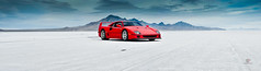 Ferrari F40 | Salt Flats Panorama (Folk|Photography) Tags: sky panorama mountains clouds photography 50mm utah folk salt automotive ferrari professional flats gil stitched supercar bonneville f40