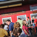 There's always a crowd for Howling Cow Ice Cream at the State Fair.