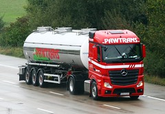 Mercedes Actros new look GDA RS93 (gylesnikki) Tags: red truck artic tanker mp4 2012 pawtrans