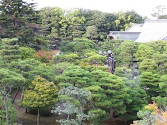 trees in the garden (squeezemonkey) Tags: trees roof building japan garden kyoto nijocastle