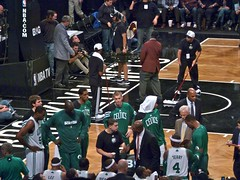 Boston Celtics timeout