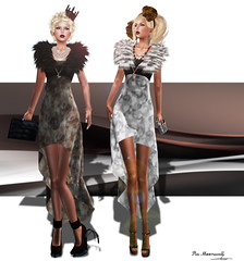 Fur Dress : ((Crystal Line)) (pia_moonwall) Tags: yummy jd boon amorous crystalline azory handverk blisscouture ricielli glamaffair laviere laccessoires
