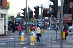 Fallowfield (kh1234567890) Tags: uk england trafficlights manchester 50mm pentax dusk candid streetphoto streetfurniture magicbus fallowfield pedestriancrossing wilmslowroad k7 smcpentaxm50mmf14 smcpm50mmf14