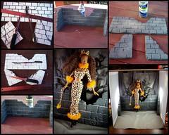 Easy Peasy Quickie Mini~Stone Wall (partydolly) Tags: halloween fashion stone wall miniature doll ooak barbie easy tutorial diorama partydolly