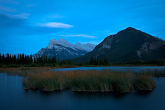 Vermilion Lake, After the Sunset (RLisak) Tags: blue sunset canada rockies dusk alberta banff banffnationalpark canadianrockies vermilionlake