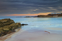 A West Highland Beach. (Gordie Broon.) Tags: ocean sea seascape seaweed beach nature clouds geotagged photography evening scotland sand scenery rocks alba cottage scenic escocia schottland ecosse lochinver stoer assynt culkein scottishhighlands drumbeg sutherlandshire northwestscotland canoneos7d clashnessiebay gordiebroon