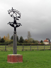 Framsden Village Sign and Mill (The original SimonB) Tags: sign suffolk october samsung 2012 villagesign framsden autumnul wb690