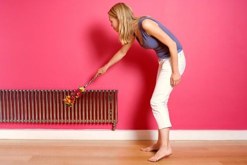 heating a house with radiators