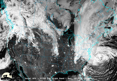 Suomi NPP Captures Night-time View of Sandy's Landfall