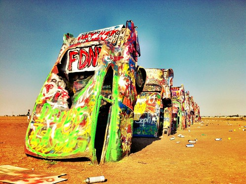 "Cadillac Ranch - Amarillo, Texas • <a style=""font-size:0.8em;"" href=""http://www.flickr.com/photos/20810644@N05/8142775320/"" target=""_blank"">View on Flickr</a>"
