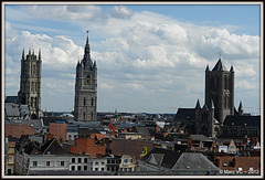 City of three towers, Ghent (Marc VC) Tags: ghent gent belfort saintnicholaschurch sintniklaaskerk sintbaafskathedraal thebelfry saintbavoscathedral cityofthreetowers