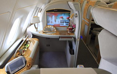 On Board Emirates A380 (A6-EDS) (A Sutanto) Tags: window private tv cabin view shot interior seat first screen class monitor emirates deck upper airbus a380 inside ek suite enclosed