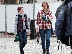 Stop The Cuts - Photographers (Waterford_Man) Tags: people london girl photographer candid trafalgarsquare jeans stopthecuts