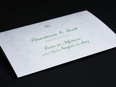 Wedding invitation with thistle and rose illustrations (The Nth Degree) Tags: digital print scotland perthshire marriage weddinginvitation waxseal hpindigo5000 tintorettogesso balathiehousehotel