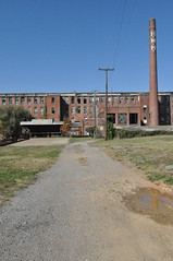 The Old Woolen Mill (zombie chicken) Tags: vacation plant building abandoned glass graffiti nikon tennessee 2012 clevelandtn d5000 nikond5000