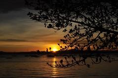 """Fito-te e sonho."" (F. Pessoa) (Ruby Ferreira ®) Tags: sunset boats bay barcos silhouettes baía silhuetas pôrsosol brasilemimagens"