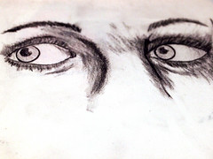 Eyes (Ruff Edge Design) Tags: levelsadjusted originaldrawing