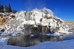 Winter Fall Creek Falls (Daryl L. Hunter - The Hole Picture) Tags: usa snow cold ice frozen waterfall unitedstates idaho icicles fallcreekfalls swanvalley evaporation frozenwaterfall winterfallcreekfallswanvalleyidaho
