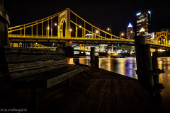 Pittsburgh Dock Revisited (mvos18) Tags: wood city bridge water canon lights dock pittsburgh cityscape waterfront north shore waterway 60d sigma1750