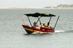 Tourists In Native Canoe on River Volta, Ghana (paulinuk99999 (I'm back!!)) Tags: africa water river ada native tourists canoe estuary ghana greater volta accra paulinuk99999 sal70400g
