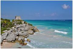 Templo Dios del Viento (Stella Blu) Tags: ocean stella abandoned mexico coast ancient ruins yucatan tulum caribbean nikkor18200 tuluum duetos qunitanaroo agcgwinner nikond5000 herowinner storybookwinner pregamewinner