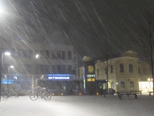 Neuschnee und Westwind gestern Abend / Fresh snow and westwind yesterday in the evening