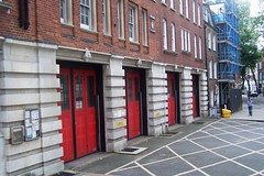 Closed Doors (My photos live here) Tags: street city red england urban london station fire town closed doors camden capital north mount pleasant