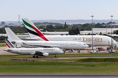 Size is Relative (Tangoman11) Tags: bhx airbus a380 380 a388 emirates airline ek uae aircraft airfrance size perspective proportion