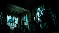 Industrial Shoot #2 - DSC9680 hdr ilce A7II (cleansurf2 Urbex) Tags: industrial industry wine spirits old glass windows blue black steel vats concrete indoors urbex urban widescreen wallpaper 16x9 emount texture decay rustic room toned ultra ilce ilce7m2 vivid minimalism cool color colour screensaver background building beauty barrel machinery metal mood commercial company heritage lowkey architecture a7ii sony scale shadow age artistic australia dark
