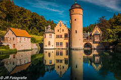 Schloss Mespelbrunn (jrfotografie1) Tags: places germany bavaria mespelbrunncastle daytrips mespelbrunn bayern de schloss schlossmespelbrunn hdr castle architecture nature water reflection moat wasser medieval travel 500px
