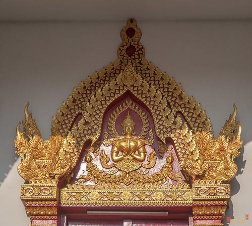 Wat Santiwan Phra Wihan Window Lintel (DTHCM0942)