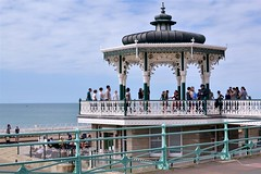 2016-08-14: Blue Everywhere (psyxjaw) Tags: brighton swing dance swingdancing dancing weekend jumpingattheseaside jumping seaside jats bandstand band stand beach