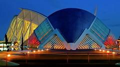 Blue Hour L'Hemispheric (gerard eder) Tags: arquitecture arquitectura architektur bluehour evening modernarchitecture santiagocalatrava calatrava ciudaddelasartesyciencias cityofartsandsciences stadtderknsteundwissenschaften valencia spain espaa spanien europa europe cityscape city stdte stadtlandschaften world travel reisen viajar
