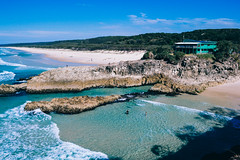 Point Lookout (JamesGriffin,) Tags: lookout ocean beach south east queensland surf surfers paradise point straddie stradbroke north island rocks cliff jumping blue water sea landscape tatto tattoo nikon film vsco lomography hdr waves rock