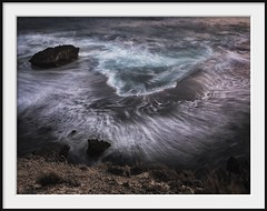 rock shelf (Andrew C Wallace) Tags: wave rockshelf longexposure slowwater blur ocean drama foam whitewater swirls olympusomdem5 nd400 microfourthirds m43 colour aqua