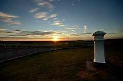 Over the horizon (smcnally24601) Tags: sun sunset evening autumn sunny red landscape england britain surrey epsom downs