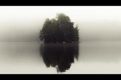 Morning mist (Kai Metso) Tags: nikon d200 landscape lake water fog mist 70mm finland nastola suomi island nature