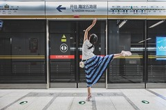 Subway Dancing (Photo Alan) Tags: metropolitanrailway metro subway dancing beijing china girl people
