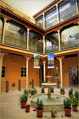 Office de tourisme de Grenade, Andalucia, Espana (claude lina) Tags: claudelina espana spain espagne andalucia andalousie city town ville granada grenade architecture patio fontaine colonnes galeries