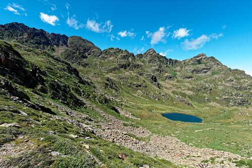 Trek Haute Ariège - Jour 9 - l'étang de Roumazet