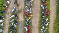 Catskill Scrapyard (milfodd) Tags: august 2016 singlerawhdr catskill aerialphotography quadcopter dji phantom3pro drone scrapyard junk scrapmetal