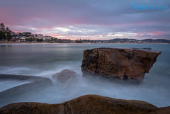 Terrigal NSW Australia. (TMCiantar) Tags: beach rocks water longexposure dslr nikon mynikonlife mothersand sea sunset landscape ocean beautiful australia nsw dangerous photography cool cold weather