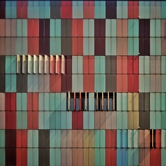 Carnival of Moods (Paul Brouns) Tags: paulbrouns paulbrounscom abstract symphony space twodimensional sunlight shadows light square composition panels shutters windows wall building facade architecture itali italia italy milaan milano milan colors colours
